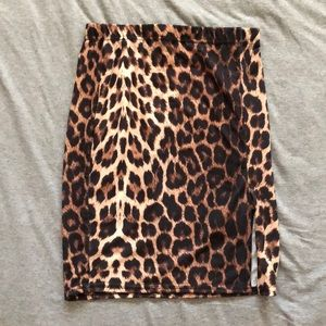 H&M CHEETAH SKIRT